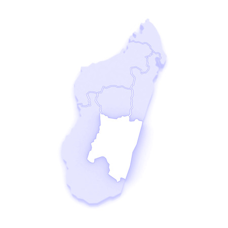 madagascar: Map of Fianarantsoa. Madagascar. 3d