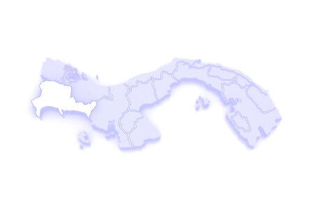 panama: Map of Chiriqui. Panama. 3d