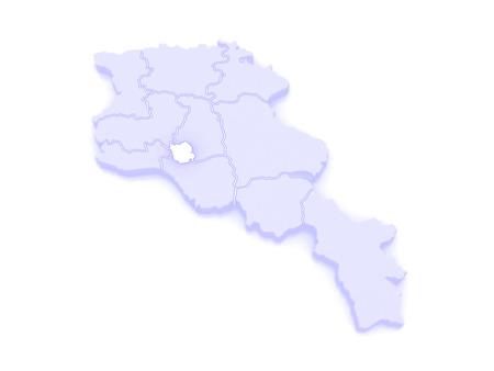 map of armenia: Map of Yerevan. Armenia. 3d Stock Photo