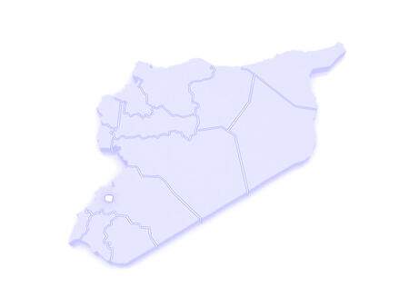 damascus: Map of Damascus. Syria. 3d