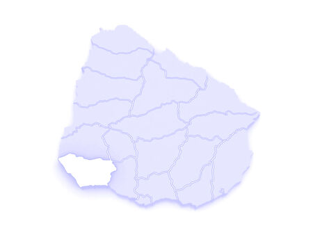 Map of Colony. Uruguay. 3d Фото со стока