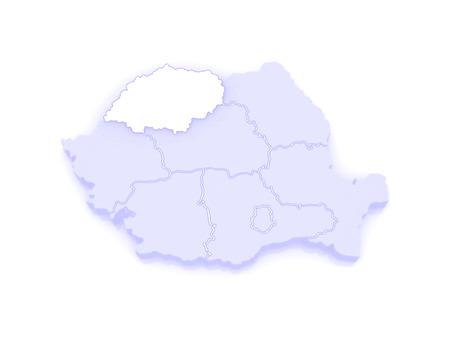 northwestern: Map of Northwestern Development of Romania. 3d