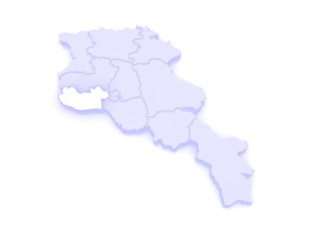 map of armenia: Map of Armavir. Armenia. 3d