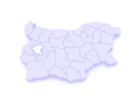 sofia: Map of Sofia City. Bulgaria. 3d Stock Photo