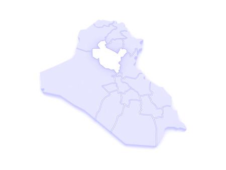 republics: Map of Salah al-Din. Iraq. 3d