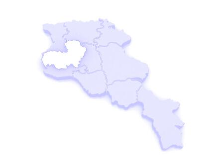 map of armenia: Map of Aragatsotn. Armenia. 3d Stock Photo