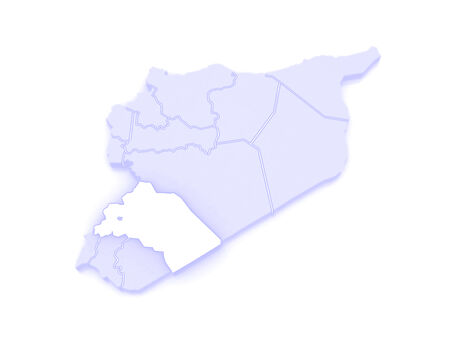 damascus: Map of Reef Damascus. Syria. 3d