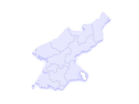 republics: Map of Kumgang. North Korea. 3d