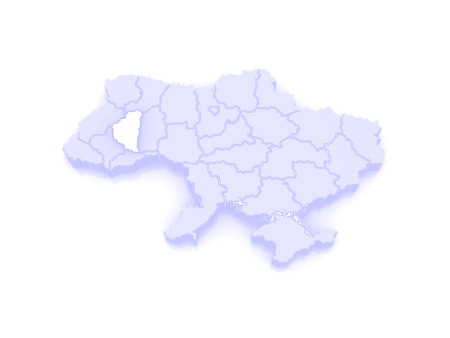 republics: Map of Ternopil region. Ukraine. 3d Stock Photo