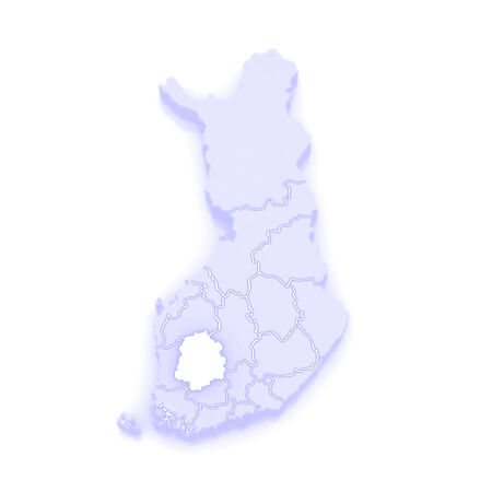 finland: Map of Tampere. Finland. 3d