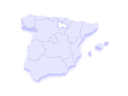 rioja: Map of Rioja. Spain. 3d Stock Photo
