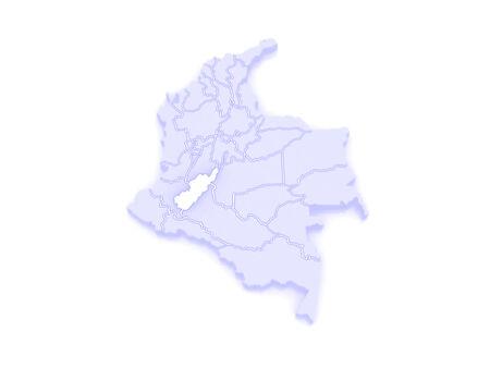 huila: Mapa del Huila. Colombia. 3d Foto de archivo