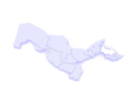 uzbekistan: Map of Namangan. Uzbekistan. 3d
