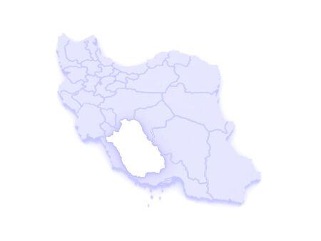farce: Map of Farce. Iran. 3d