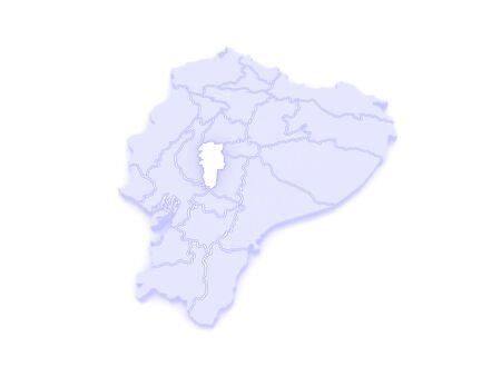 ecuador: Map of Bolivar. Ecuador. 3d
