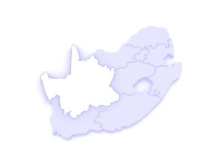cape: Map of Northern Cape (Kimberley). South Africa. 3d