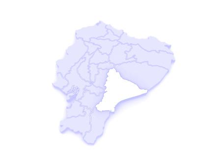 santiago: Map of Morona Santiago. Ecuador.   3d