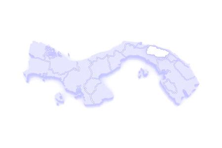 panama: Map of Kuhn de Madugandi. Panama. 3d