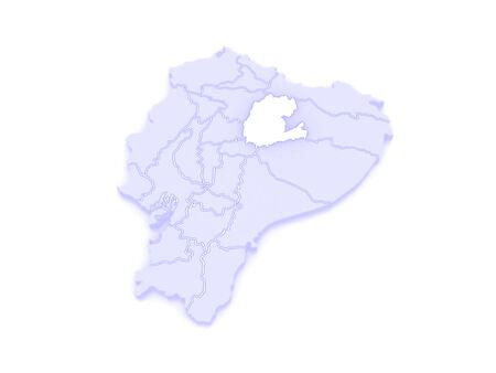 ecuador: Map of Napo. Ecuador. 3d