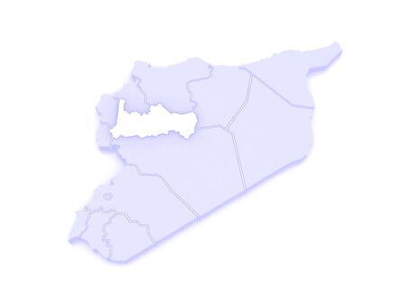 republics: Map of Ham. Syria. 3d