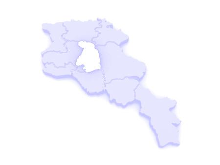 map of armenia: Map of Kotayk. Armenia. 3d Stock Photo