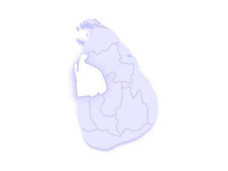 republics: Map of North West. Sri Lanka. 3d