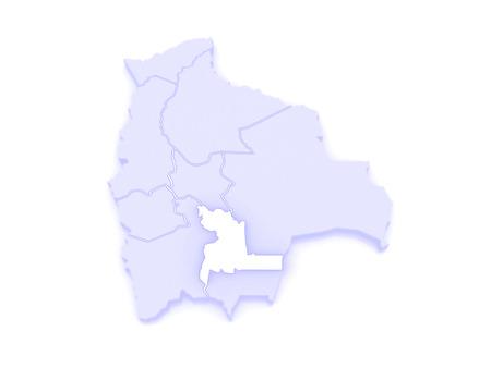 mapa de bolivia: Mapa de Chuquisaca. Bolivia. 3d