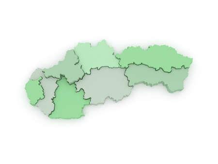 slovakia: Three-dimensional map of Slovakia. 3d