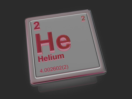 Helium. Chemical element. 3d photo