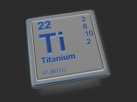 titanium: Titanium. Chemical element. 3d
