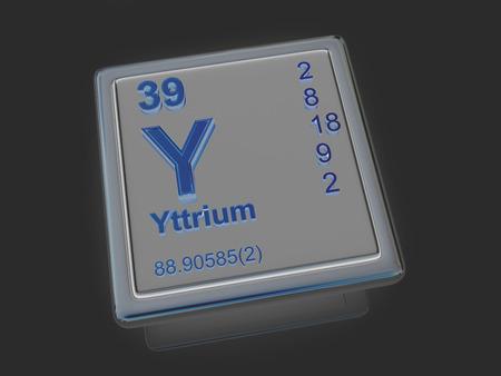 experimentation: Yttrium. Chemical element. 3d
