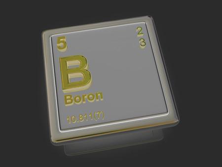 boron: Boron. Chemical element. 3d Stock Photo