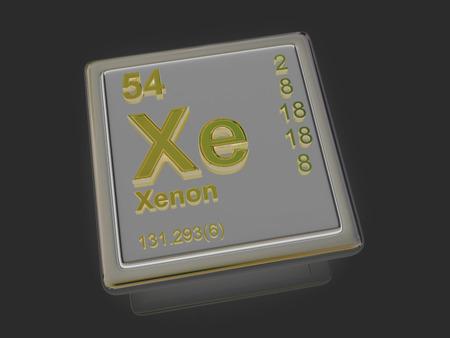 xenon: Xenon. Elemento qu�mico. 3d Foto de archivo