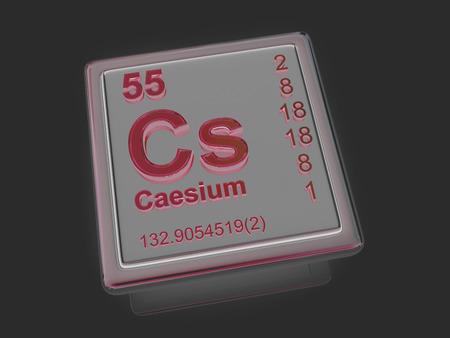 cs: Caesium. Chemical element. 3d Stock Photo