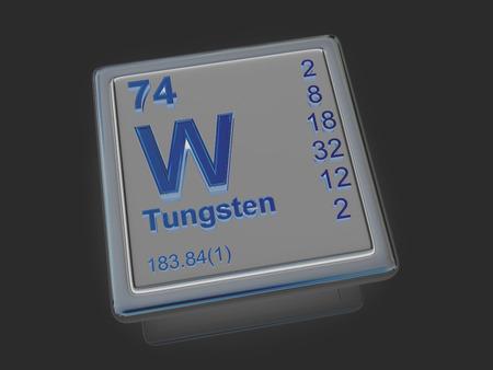 tungsten: Tungsten. Chemical element. 3d Stock Photo