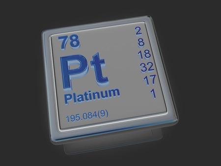 platinum: Platinum. Chemical element. 3d