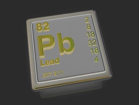 experimentation: Lead. Chemical element. 3d