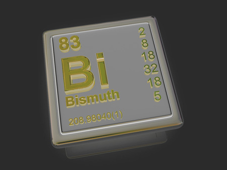 bismuth: Bismuth. Chemical element. 3d