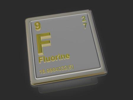 fluorine: Fluorine. Chemical element. 3d