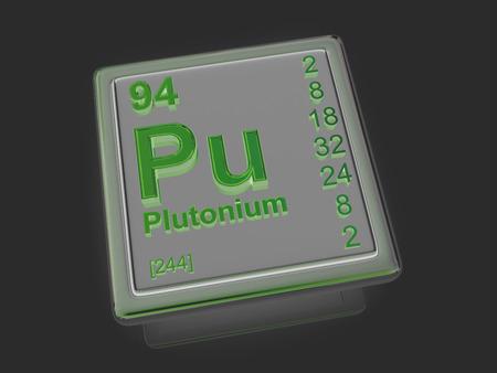 plutonium: Plutonium. Chemical element. 3d