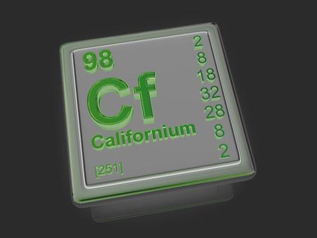 experimentation: Californium. Chemical element. 3d
