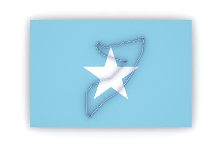 somalia: Map of Somalia. 3d Stock Photo
