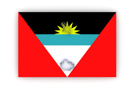 antigua: Map of Antigua and Barbuda. 3d Stock Photo