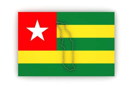 togo: Map of Togo. 3d Stock Photo