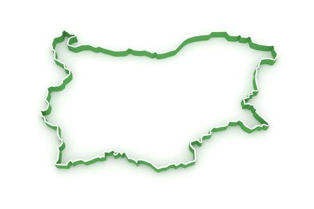 bulgaria: Three-dimensional map of Bulgaria. 3d