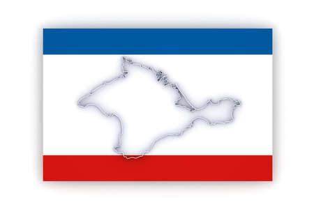 crimea: Map of Crimea. 3d Stock Photo