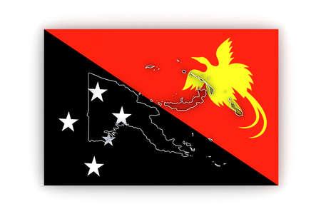 guinea: Map of Papua - New Guinea. 3d