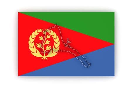 eritrea: Map of Eritrea. 3d