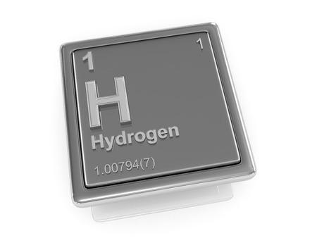 hidrogeno: El hidr�geno. Elemento qu�mico. 3d Foto de archivo
