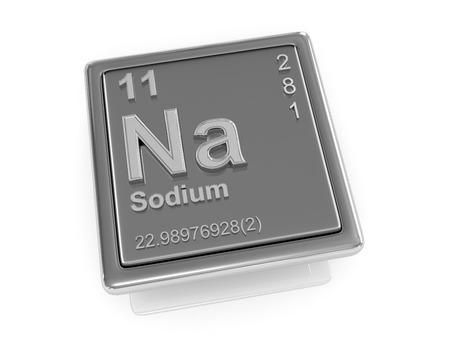 si�o: Sodium. Chemical element. 3d
